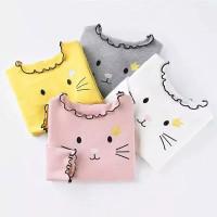 baju kaos lengan panjang kitty anak import 3 - 7 tahun