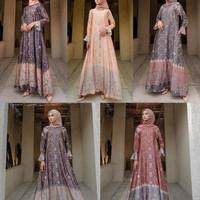 baju gamis wanita terbaru edisi sultan lebaran 2021