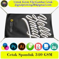 Cetak Spanduk Banner 340 GSM