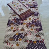 kain batik tulis madura pamekasan premium + selendang