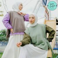 Andin Vest Wanita Rajut Murah | Baju Rompi Tanpa Lengan Muslim Terbaru