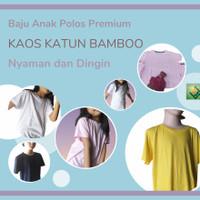 Kaos Polos Anak Premium Katun Bamboo Pakaian Unisex Lengan Pendek