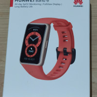 Huawei Band 6 Orange resmi + screen glass protector
