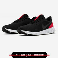 sepatu nike revolution 5 men black red white original