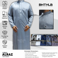 Gamis Pria Alraz Jubah Arab Thobe Baju Panjang Modern Katun