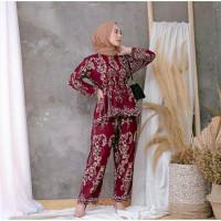 baju setelan celana motif sultan terbaru