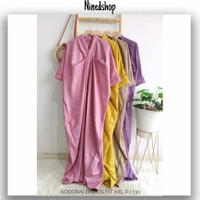 Baju Dress Kaftan Kodorai Embos / Fashion Gamus Wanita Terbaru