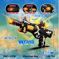 PROMO Mainan Anak Pistol Pistolan Tembak Tembakan Baterai BRO1078