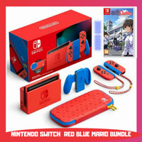 NINTENDO SWITCH V2 MARIO RED BLUE EDITION HAC 001 01 LONG BATTERY