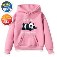 Jaket Anak Sweater Anak Hoodie Anak Perempuan PANDA SLEEP MORE 6-10 th