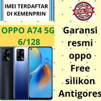 oppo a74 5g 6/128 dan 4g garansi resmi indonesia