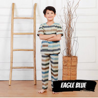 Baju Tidur Anak Cowok Cewek Piyama Katun Eagle Blue 1-9 Tahun