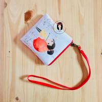 Riku Linen Canvas Hanging Canvas Pouch Dompet Kanvas Gantung