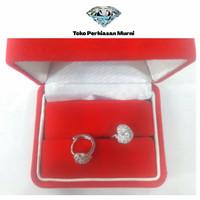 Anting Xuping Motif Love Batik Silver