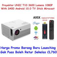 Projector Proyektor UNIC T10 3600 Lumens Full HD 1080P