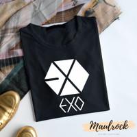 Kaos Tshirt Kpop EXO Baju Casual Pria Wanita Lengan Pendek