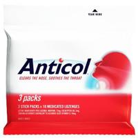 Terlaris Anticol Throat Lozenges 3 Packs - Original Australia Non Cod