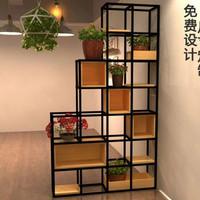 partisi penyekat ruangan minimalis besi kombinasi kayu jati solid