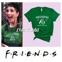 Kaos Rachel Green FRIENDS TV Show Girls Boxing T-shirt Cosplay