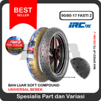IRC 90/80-17 Fasti 2 Soft Compound Racing Ban Luar Motor Bebek Balap