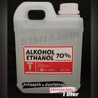 alkohol 70% atau etanol 70 % ethanol 70 persen alkohol antiseptik 1L