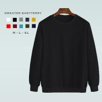 Sweater Crewneck Premium Pria/Wanita Polos