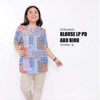 blouse jumbo motif/ atasan big size / baju atasan jumbo / blus / tunik - S