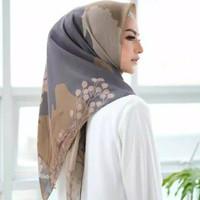 Jilbab / Hijab Segi Empat Motif Wilona Kerudung Bahan Voal Premium