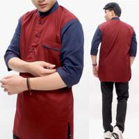 fashion baju Koko toyobo dewasa awet warna rapih terbaru - LP 4, S