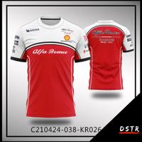 Kaos Baju Jersey F1 Formula One Team Alfa Romeo Full Print KR0264