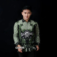 Kemeja Batik Pria Lengan Panjang Motif NU Ori Pekalongan Baju Lebaran