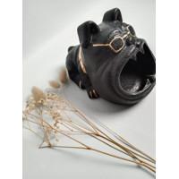 Asbak Unik Bulldog - Stoneware Cute Bulldog Ash Tray