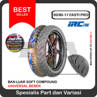 IRC 90/80-17 Fasti Pro Soft Compound Racing Ban Luar Motor Bebek Balap