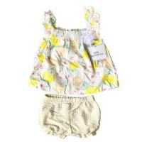 Baju bayi perempuan 0 6 12 18 bulan atasan bawahan branded murah