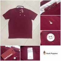 Hush Puppies Basic Polo Shirt Original - Red Maroon