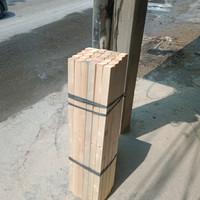 kaso/ balok kayu jati Belanda perbatang 100x4x4cm