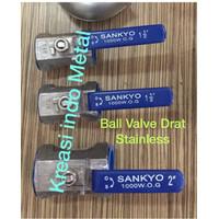 SANKYO -Ball Valve 2 inch /Stop Kran Stainless Sus SS316 SS304 SS Drat