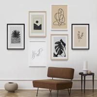 Wall Decor Art Print Aesthetic Cetak Custom Dengan Frame Kayu 40x60cm