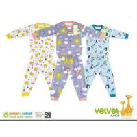 Velvet junior S M L Setelan Oblong Baju Tidur Piyama Panjang Anak Bayi