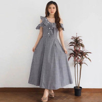 Michelle long dress / dress wanita dress casual fashion wanita trend