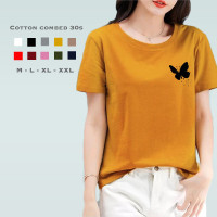 Kaos Wanita Butterfly / Tshirt Katun Combed 30s / Tumblr Tee