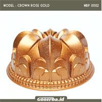 Loyang Bundt Baking Cake Cetakan Kue Bolu Tulban Sultan Pan Marble - Crown Gold, Extra Bubble