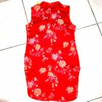 Baju Merah Anak Perempuan Motif Bunga Gaya China