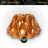 Bundt Baking Cake Loyang Cetakan Kue Bolu Tulban Sultan Pan Marble - Tulip Gold, Standar Packing