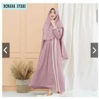 Gamis Wanita Syar'i Muslim Dewasa Gamis Wanita Sultan Modis Lebaran - denada pink