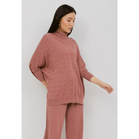 NOA Everyday SET PROMO: HANA Knitted Blouse with Pants - Wine