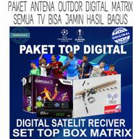PAKET ANTENA OUTDOR DIGITAL MATRIX SET TOP BOX DVB GARANSI RESMI JAMIN