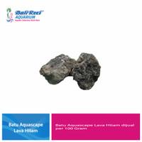 Batu Aquascape Lava Hitam Per 100 Gram