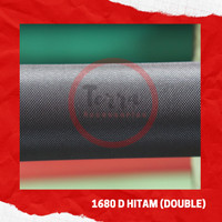 Bahan Kain Tas Polyester 1680D Double Hitam Aksesoris Tas Murah