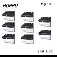 (8 PCS) Roppu Lighting 206 LED Solar Wall Light Outdoor
